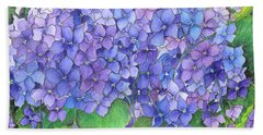 Hydrangea Purple Blue Bath Towel