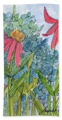 Hydrangea With Bee Bath Towel