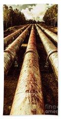 Hydroelectric Pipeline Bath Towel