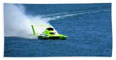 Hydroplane Boat Race Bath Towel