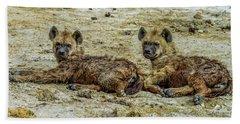Hyenas In The Serengeti Hand Towel