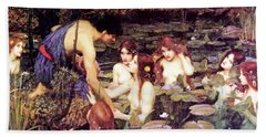 Hylas And The Nymphs Bath Towel