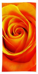 Hypnotic Orange Bath Towel