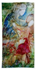 Bath Towel featuring the painting I Am A Child Of God by Deborah Nell