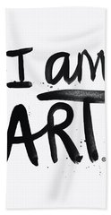 I Am Art Black Ink - Art By Linda Woods Hand Towel