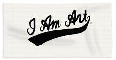 I Am Art Swoosh Black- Art By Linda Woods Hand Towel