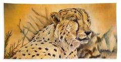 I Am Cheetah Bath Towel by Marilyn  McNish