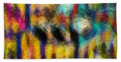 Hand Towel featuring the digital art I Am Fine by Riana Van Staden
