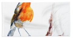 Hand Towel featuring the painting I Am Happy by Jasna Dragun