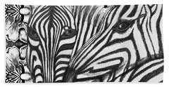 I Am So Into You Zebra Love Bath Towel by Kimberlee Baxter