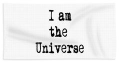 I Am The Universe Quote Prints, All Is One, Art Print Posters, Crown Chakra Hand Towel