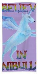 I Believe In Unibulls Hand Towel by Jindra Noewi