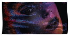 Bath Towel featuring the digital art I Breathe Art Therefore I Am Art by ISAW Company