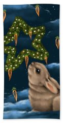 Hand Towel featuring the painting I Can Smell The Christmas In The Air by Veronica Minozzi