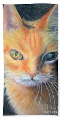 Hand Towel featuring the pastel I Can't Get You Out Of My Mind Rusty by Antonia Citrino