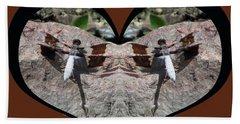 I Chose Love With Dragonflies On A Rock Bath Towel