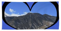 I Choose Love With The Manitou Springs Incline In A Heart Bath Towel