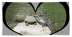 I Chose Love With Two Turtles Snuggling Bath Towel