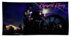 I Grew Up With Purplerain 2 Bath Towel