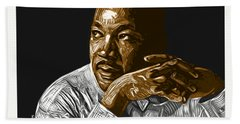 Hand Towel featuring the digital art I Have A Dream . . . by Antonio Romero