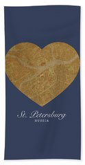 I Heart St Petersburg Russia Street Map Love Series No 096 Hand Towel