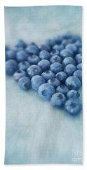I Love Blueberries Hand Towel by Priska Wettstein