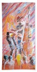 I Love Bluegrass Bath Towel by Bill Holkham