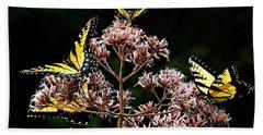 I Love Butterflies  Hand Towel by Christy Ricafrente