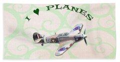 I Love Planes - Hurricane Hand Towel