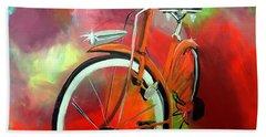 I Ride My Bike Bath Towel by Tom Riggs