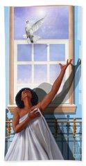 I Saw The Holy Spirit Descending Like A Dove Hand Towel