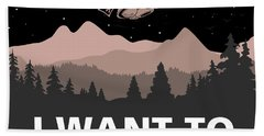 Hand Towel featuring the digital art I Want To Believe by Gina Dsgn