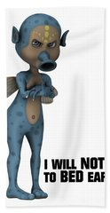 I Will Not Go To Bed Early Hand Towel by Esoterica Art Agency