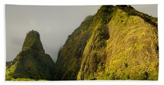 Iao Needle And Mountain Bath Towel