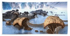 Ice Cavern Bath Towel
