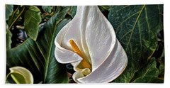 Hand Towel featuring the digital art Ice Cream Calla Lily by Pennie  McCracken
