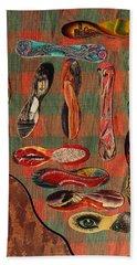 Bath Towel featuring the painting Ice Cream Wooden Sticks by Viktor Savchenko
