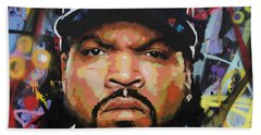 Bath Towel featuring the painting Ice Cube by Richard Day