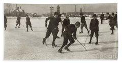 Ice Hockey 1912 Hand Towel