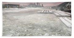 Frozen Allegheny River  Bath Towel