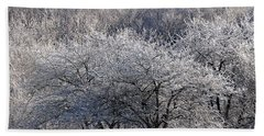 Ice Orchard Bath Towel by Diane E Berry