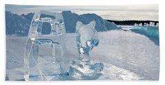 Ice Sculpture Bath Towel by Tamara Sushko