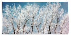 Ice Trees Hand Towel