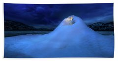 Bath Towel featuring the photograph Ice Volcano by John Poon