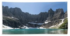 Iceberg Lake Panoramic - Glacier National Park Bath Towel