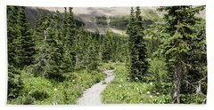 Iceberg Lake Trail Forest Bath Towel