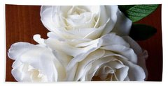 Iceberg Rose Trio Hand Towel by Will Borden