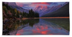 Icefields Parkway Autumn Morning Bath Towel