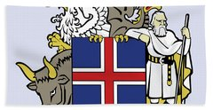 Iceland Coat Of Arms Bath Towel by Movie Poster Prints