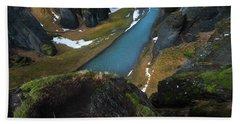 Iceland Gorge Hand Towel